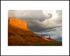 Rain Clouds Over Buttes
